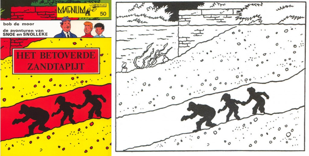 The cover was an enlarged frame from strip 174 with some extra 'retouches'.