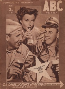 The cover of issue 52 of ABC Weekblad, released on December 1945.