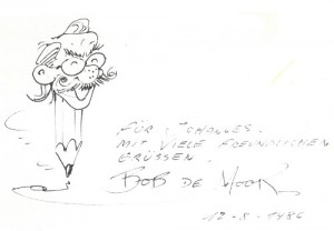 Bob De Moor on a pencil.