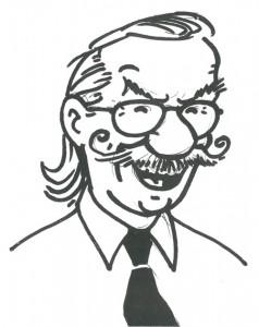 A self portrait of Bob De Moor, probably made in 1986.
