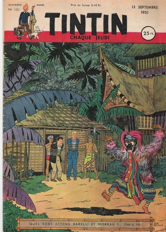 A test artwork version for the 80s version of 'Barelli à Nusa-Penida (Volume 1)'