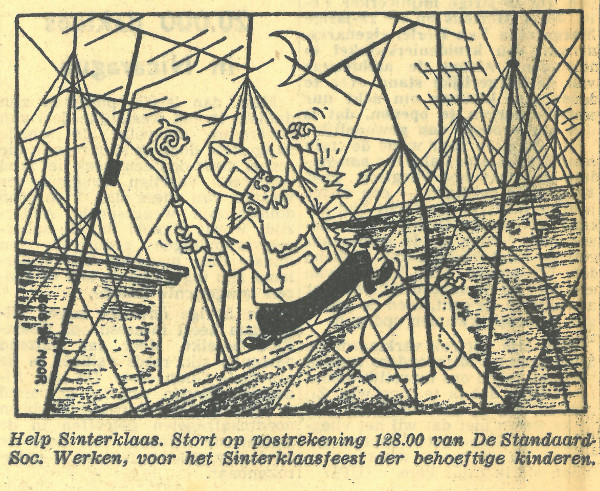 Sinterklaas with Bob De Moor in 1960