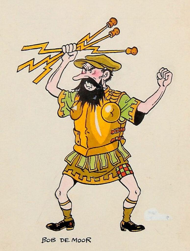 A bearded man in a kilt as the auction house says? Not really