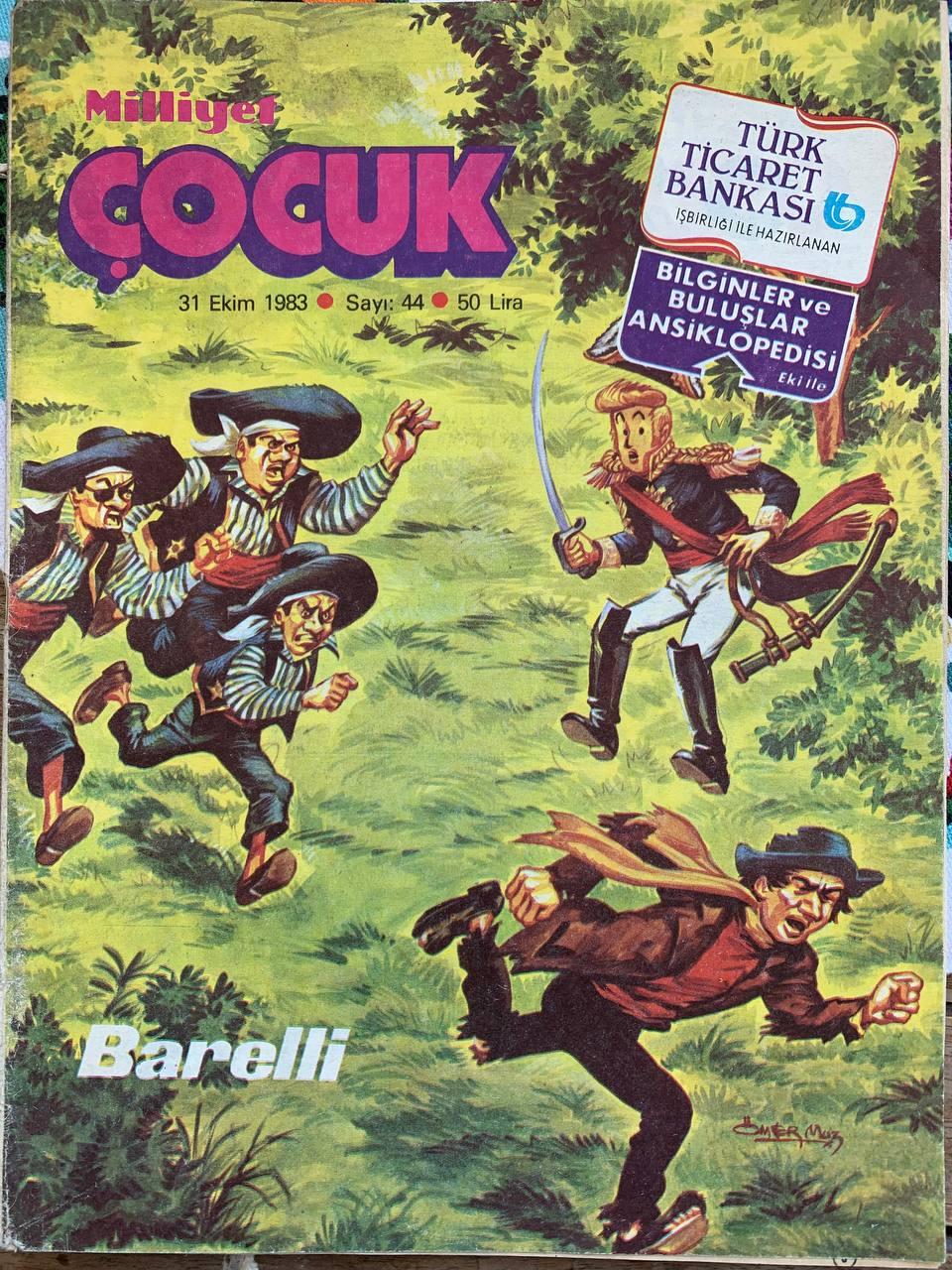 Bob De Moor's Barelli interpreted by Omer Muz for Milliyet Çocuk pblication